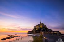 Mont St Michel al tramonto