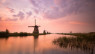Kinderdijk all'alba