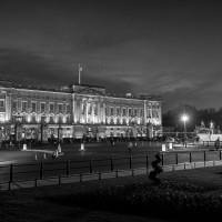 Buckingham Palace bw