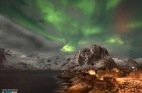 Aurora su Hamnøy