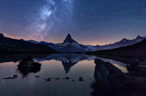 Milky way on the Matterhorn