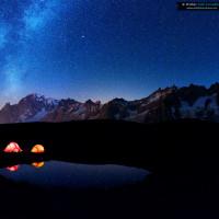 Milky way on Mont Blanc