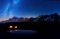 Milky way on Mont Blanc